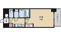 ファーストステージ江戸堀パークサイド[605号室]の間取り