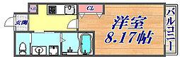 阪急神戸本線 武庫之荘駅 徒歩28分の賃貸マンション 1階1Kの間取り