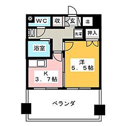 オクトワール掛川[7階]の間取り