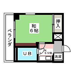 大嶽弥富マンシヨン[2階]の間取り