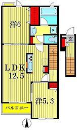 コンフォ—タス[2階]の間取り
