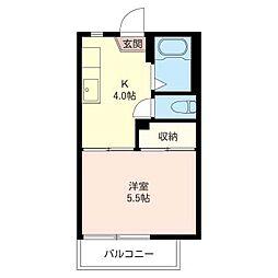 フォーブル タナベ B[2階]の間取り
