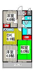 ハイクレスト喜沢南マンション[2階]の間取り