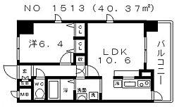 S-RESIDENCE(エスレジデンス)谷町九丁目[2階]の間取り