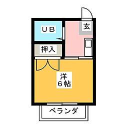 プレジール石川[1階]の間取り