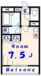 ドミトリーサンタフェ[311号室]の間取り