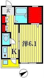 シャンテ・オクド[1階]の間取り