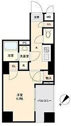 東急目黒線 不動前駅 徒歩5分の賃貸マンション 2階1Kの間取り