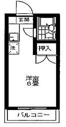 メゾンポナール[3階]の間取り