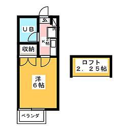 東光ハイツ[2階]の間取り
