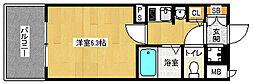 「エステムコート御所南II」[6階]の間取り