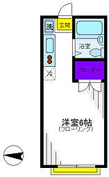 カーザピッコラ[1階]の間取り