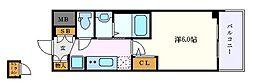 名古屋市営東山線 新栄町駅 徒歩11分の賃貸マンション 8階1Kの間取り