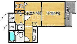 ライオンズマンション四条大宮[1103号室号室]の間取り