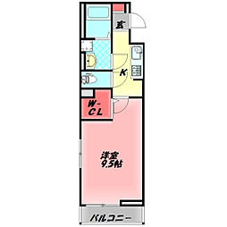 Osaka Metro谷町線 守口駅 徒歩18分の賃貸アパート 1階1Kの間取り