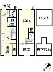 [タウンハウス] 三重県四日市市末永町 の賃貸【/】の間取り