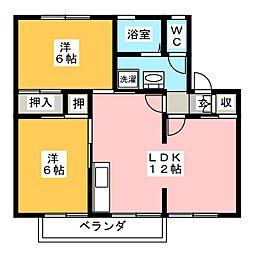 ドミール・シバタC棟[2階]の間取り