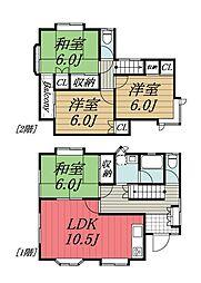[一戸建] 千葉県八街市八街は の賃貸【/】の間取り