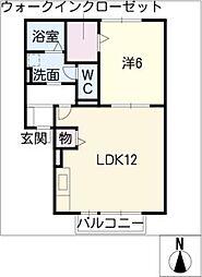オ・ソレイユ82[1階]の間取り