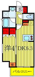 ルフォンプログレ南大塚 6階1DKの間取り