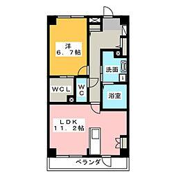 エクレール桶狭間 A棟[1階]の間取り