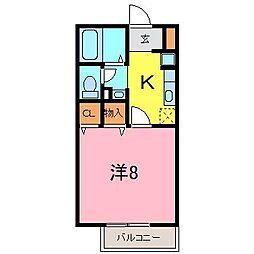 ケーナ保田[210号室]の間取り