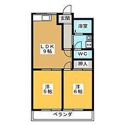 スプリング岩崎[2階]の間取り