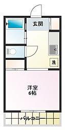 芦山グレイスマンション[401号室]の間取り