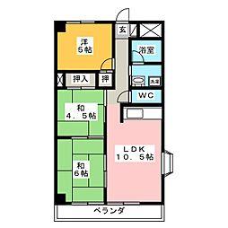 メゾン・ド・ソレイユ[2階]の間取り