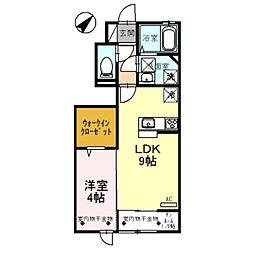D-roomエンゼル[106号室]の間取り