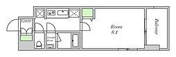 近鉄南大阪線 河堀口駅 徒歩7分の賃貸マンション 12階1Kの間取り