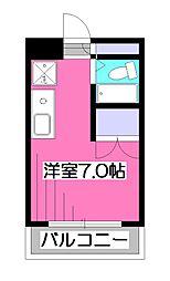 東京都東久留米市大門町1丁目の賃貸マンションの間取り