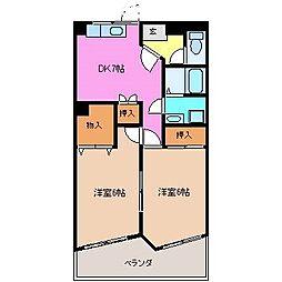 三重県津市高茶屋小森上野町の賃貸マンションの間取り