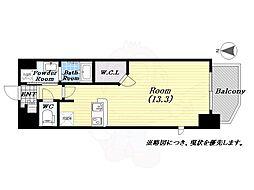 アーバンパーク梅田WEST 11階ワンルームの間取り