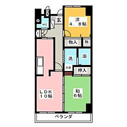 ナビシティ応仁町202号[2階]の間取り