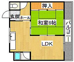 ハイローズマンション1番館[2階]の間取り