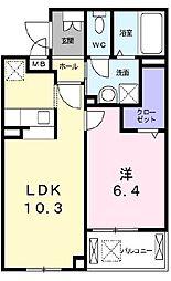 古川町4丁目マンション[2階]の間取り