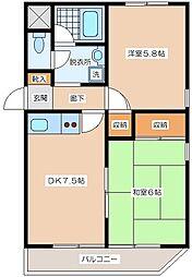 メゾン・ド・ミラベル[2階]の間取り