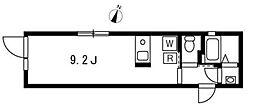 プロト西小山 4階ワンルームの間取り