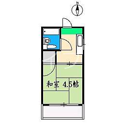 コーポラノビア[2階]の間取り