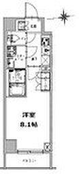 S‐RESIDENCE 三田慶大前 7階1Kの間取り