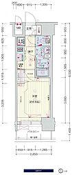 JR大阪環状線 鶴橋駅 徒歩3分の賃貸マンション 11階1Kの間取り
