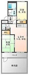 岡山県倉敷市東塚4丁目の賃貸マンションの間取り