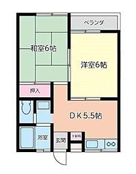 レグルス(市ヶ尾町472-13)[2階]の間取り