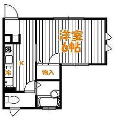 東京都足立区弘道2丁目の賃貸アパートの間取り