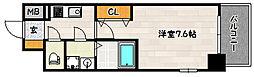エスプレイス神戸ウエストモンターニュ 11階1Kの間取り