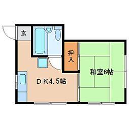 静岡県静岡市葵区新富町5丁目の賃貸マンションの間取り