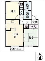 ローズガーデン清須[1階]の間取り