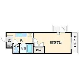 プレステージ桜ノ宮[3階]の間取り