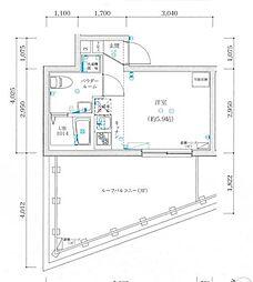 東京メトロ丸ノ内線 方南町駅 徒歩7分の賃貸マンション 3階ワンルームの間取り